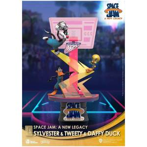 Beast Kingdom Space Jam: A New Legacy D-Stage Diorama - Sylvester, Tweety & Daffy Duck