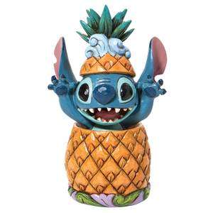 Disney Traditions Stitch In A Pineapple Figurine