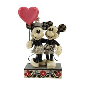 Disney Traditions Mickey And Minnie Love Balloon Figurine