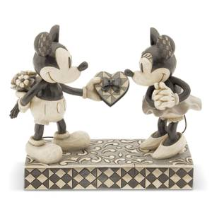 Disney Traditions Real Sweetheart Mickey & Minnie Black and White Figurine