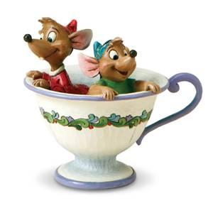Disney Traditions Cinderella Tea For Two Jaq & Gus Figurine