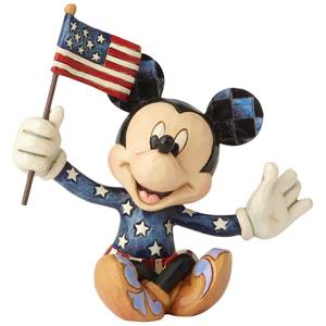 Disney Traditions Mickey Patriotic Mini Figurine