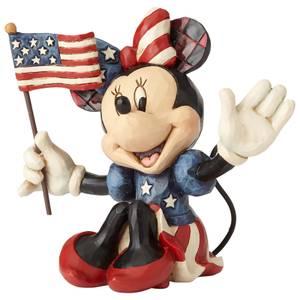 Disney Traditions Minnie Patriotic Mini Figurine