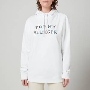 Tommy Hilfiger Women's Crv Regular Floral Hoodie - White