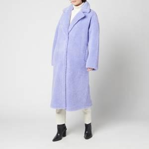 Stand Studio Women's Maria Faux Fur Teddy Coat - Light Sapphire