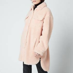 Stand Studio Women's Sabi Faux Fur Teddy Jacket - Pale Blush
