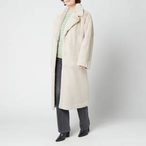 Stand Studio Women's Maria Faux Fur Soft Teddy Coat - Ecru