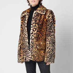 Stand Studio Women's Cass Faux Fur Leo Jacket - Leo