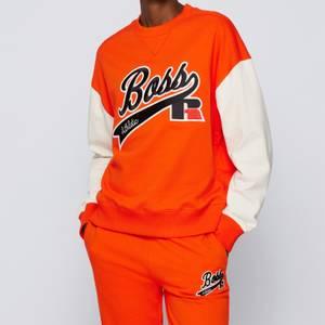 BOSS X Russell Athletic Women's Eraisa Sweatshirt - Bright Orange