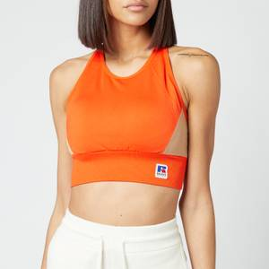 BOSS X Russell Athletic Women's Eamina Sports Bra - Bright Orange