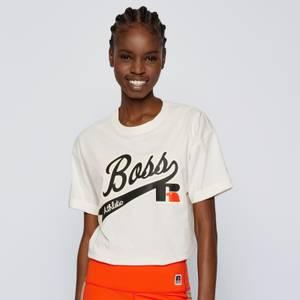 BOSS X Russell Athletic Women's Evarsy T-Shirt - Open White