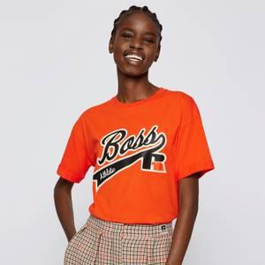 BOSS X Russell Athletic Women's Evarsy T-Shirt - Bright Orange