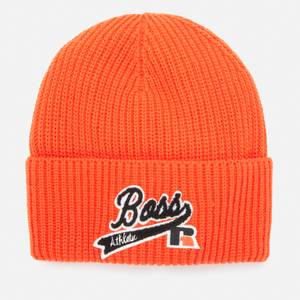 BOSS X Russell Athletic Women's Zoggie Beanie - Bright Orange