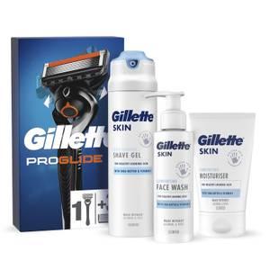 Gillette Proglide Razor, Blade and Skincare Bundle