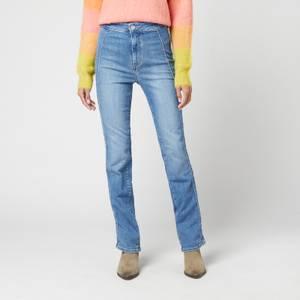 Free People Women's Cross My Heart Slim Jeans - Burnin Blue
