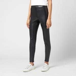MICHAEL Michael Kors Women's Faux Leather Stretch Leggings - Black