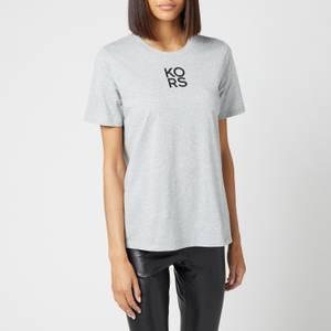 MICHAEL Michael Kors Women's Mkgo Organic Classic T-Shirt - Pearl Heather