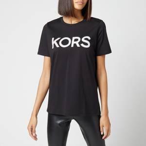 MICHAEL Michael Kors Women's Kors Graphic Organic T-Shirt - Black/Silver