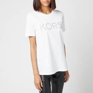 MICHAEL Michael Kors Women's Kors Graphic Organic T-Shirt - White