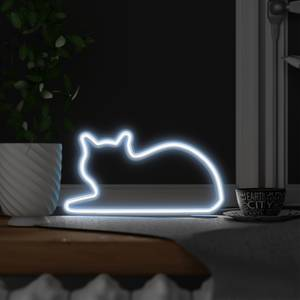 Neon Cat Light (Lying Down)
