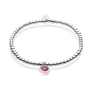February Birthstone Affinity Bead Bracelet