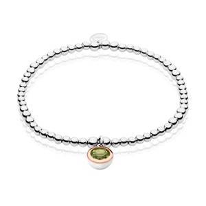 August Birthstone Affinity Bead Bracelet