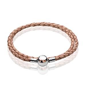 Tree of Life Cream Double Leather Bracelet
