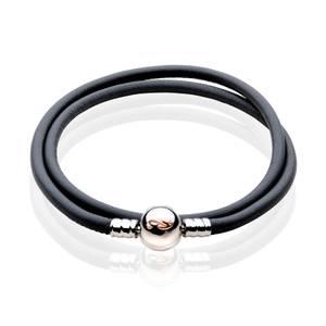 Tree of Life Grey Double Cord Bracelet