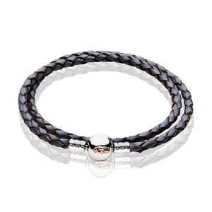 Tree of Life Grey Double Leather Bracelet