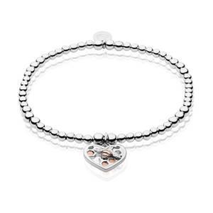 Honey Bee Honeycomb Heart Affinity Bead Bracelet 16.5-17.5cm