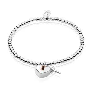 Lock and Key Affinity Bead Bracelet 16.5-17.5cm