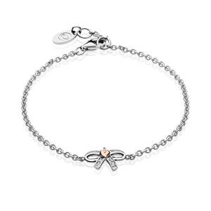 Tree of Life Bow White Topaz Bracelet