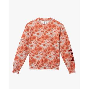 Hazy Daisy Crew Neck Sweatshirt Rust