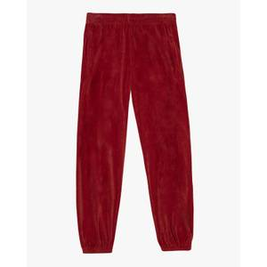 Velour Loose Fit Track Pants Rust