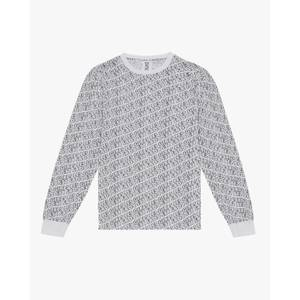 Cartoon Print Long Sleeve T-Shirt White/Black