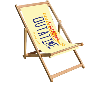 Decorsome x Back to the Future Outatime - The Golden State Deck Chair