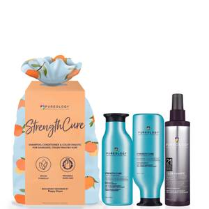 Pureology Strength Cure and Color Fanatic Set (Worth £72.35)