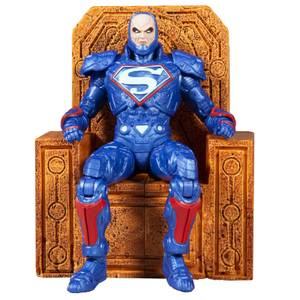 McFarlane DC Multiverse 7 Inch Action Figure - Lex Luthor In Power Suit (Blue Suit with Throne)