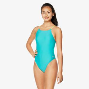 Solid Strappy Fixed Onepiece