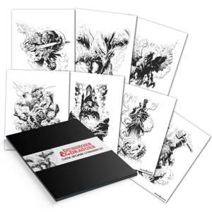 Fanattik Dungeons & Dragons Lithograph Set