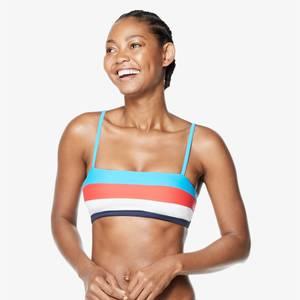 Adjustable Colorblock Bikini Top