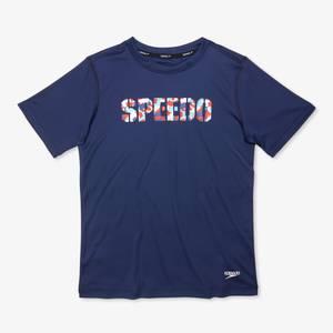 Short Sleeve Graphic Swim Shirt