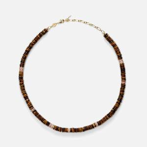 Anni Lu Women's Eye Of The Tiger Necklace - Brown/Pink