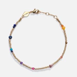 Anni Lu Women's Purple Rain Bracelet - Gold/Multi