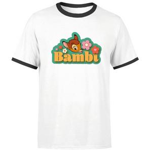 Disney Bambi Unisex Ringer T-Shirt - White / Black