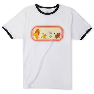 Disney The Lion King Unisex Ringer T-Shirt - White / Black
