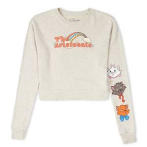 Disney The Aristocats Women's Cropped Sweatshirt - Ecru Marl