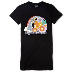 Disney Lady And The Tramp Rainbow Women's T-Shirt Dress - Black