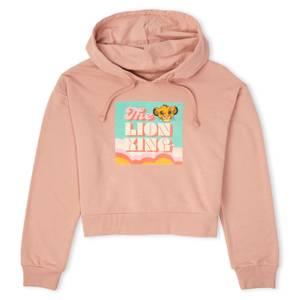 Disney The Lion King Women's Cropped Hoodie - Dusty Pink