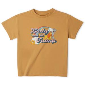 Disney Lady And The Tramp Women's Cropped T-Shirt - Tan